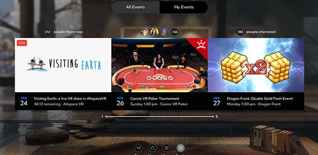 Oculus Home zeigt nun VR-Events an - VRPlayground